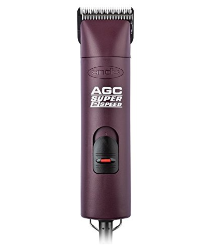 Andis ProClip Super 2-Speed Detachable Blade Clipper, Professional Animal/Dog Grooming, Burgundy, AGC2 (23280)