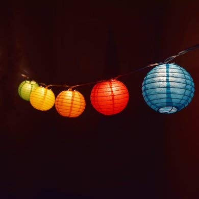 Paper Lanterns 12 inch White Round 8 Pack with Multi Color Changing Party Lights | for Weddings, Parties & Celebration by TheWayYouWant (Image #3)