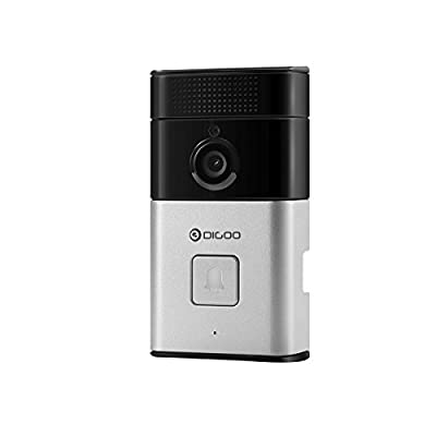 DIGOO Wifi 720P Video Doorbell, 6 in One Security Camera, Wireless Doorbell, Two-way Audio, Motion Detection, Night Vision, High Definition Media (No batteries included)