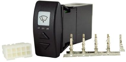 MARINCO 69-76030 Interruptor Inteligente Limpiaparabrisas, Negro, Talla Única