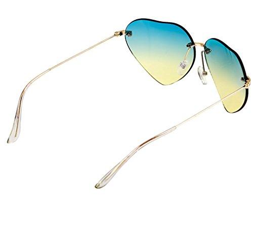 X220 sol Forma sol corazón Gafas Gafas con Color de de vanguardia de no Gafas Personalizadas convencionales B diseño A de q8fap5
