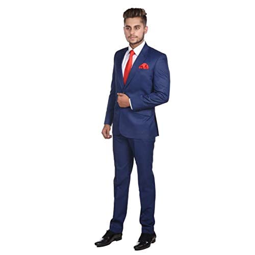 319%2BZuFD8vL. SS500  - White Bow Men's Slim Fit Formal Two Piece Suit