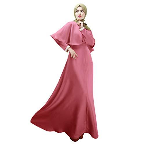 WFeieig Muslim Women Modest Maxi Dress Dubai Oversize Long Robe (M, -