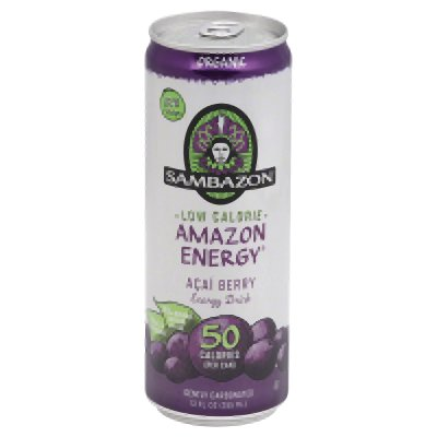 Energy Diet Amazon (Sambazon Amazon Energy Drink, Low-Calorie Acai Berry, 12 Ounce (Pack of 24))