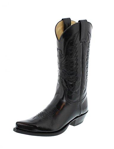 Botas Vaquero De Unisex Florentic 2073 Cuero Boots Sendra Negro ETqgwa6w