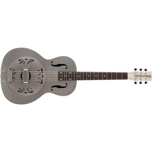 Gretsch Roots Collection G9201 Honey Dipper Round-Neck Resonator Acoustic Guitar, 19 (12 to Body) Frets, Rosewood Fretboard, Medium V Neck, Natural