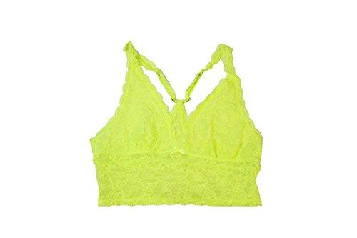 Victoria Secret PINK Lace Bralette Neon Green (X-Small)