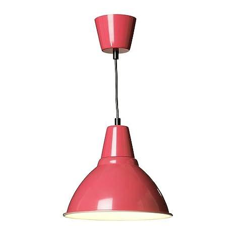 Ikea fotográfico - Lámpara de techo, color rojo (25 cm ...