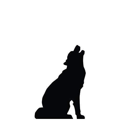 Howling Wolf Silhouette - Advanced Graphics Life Size Cardboard Standup (Werewolf Halloween Decorations)