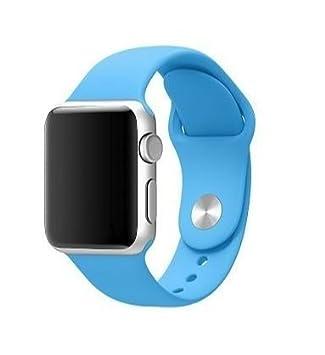 b68de23d1f3 Pulseira Sport em Silicone para relógio Apple Watch 42mm Series 3 2 1 (Azul  Piscina