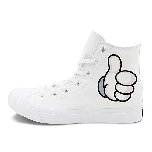 Plat Les Amoureux Blanc Bout Lacets Chaussures b des Chaussures de sur Printemps Noir Rond Exing Espadrilles Toile Confort Talon Femme Automne nP6wvcHqCO