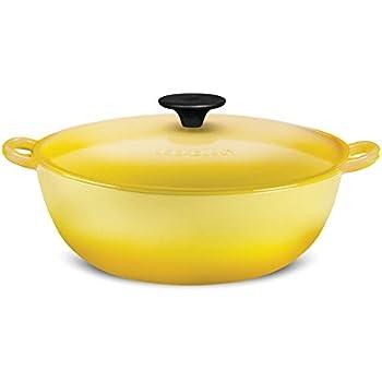 Le Creuset L2574-261M Enameled Cast Iron 4.5 quart Soup Pot, Soleil