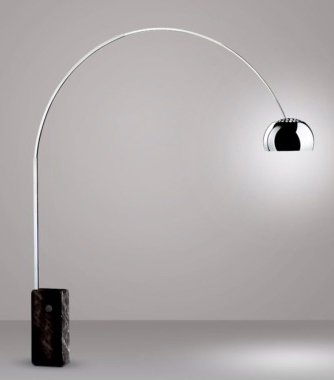 arco lighting. Brushed Chrome Arco Floor Lamp With Black Marble Base Lighting O
