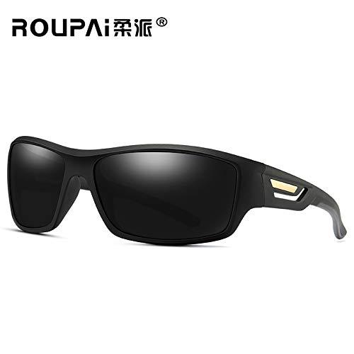 box Mjia Sol Black Sports Deportivas de Gafas sunglasses Driving de polarizadas Gafas Protección Vision Gafas 2 Black Box Hombre 2 Sol UV400 Night 6w61A4x