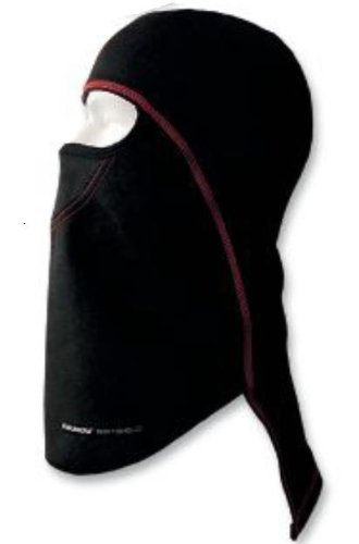 SCHAMPA & DIRT SKINS Schampa Pharaoh Deluxe Balaclava Black with Red Stitching BLCLV015D-10