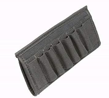 Ultimate Arms Gear Black 12 & 20 Gauge Shotgun 6 Shell Ammo Belt Slide-Pouch - Shotgun Shell Slide