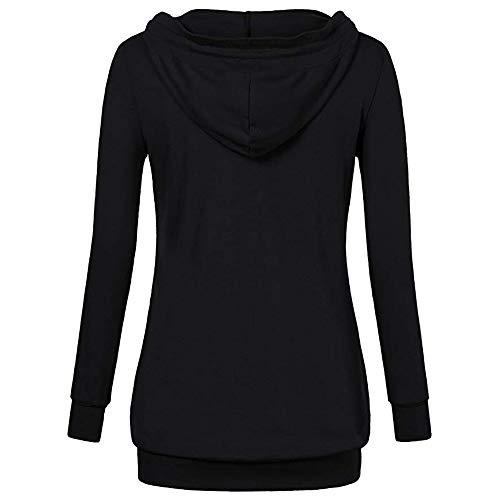 38 Automne Sweat EU Outwear Sweat Hoodie Femme GongzhuMM 40 Hiver Shirt Bnitier Capuche Noir Shirt 42 Pullover Col Femme 34 Chemisier 36 wRxzxTnq7t