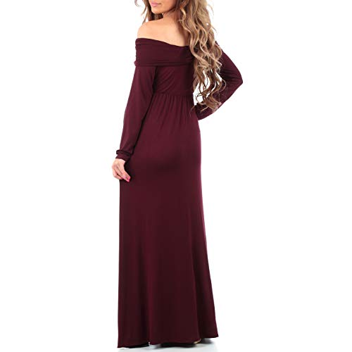 Womens Cowl Neck and Over The Shoulder Maternity Dress by Mother Bee (Image #3)