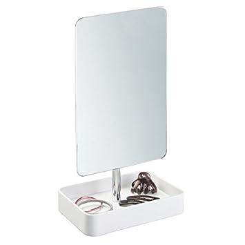 Spiegel Ablage Schminkspiegel Standspiegel Mobiler Stand Schmink Spiegel Doppel Seitig