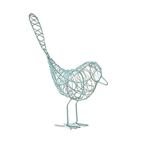 Potelin Simple Style Birds Ornaments Fairy Garden Geometric Weaving Metal Ornaments for Home Living Room Decoration Durable and Useful - Metal Garden Ornament