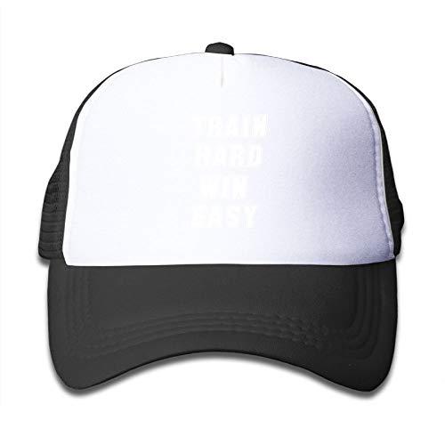 Banana King Train Hard Win Easy Baby Boys/Girls Mesh Hats Baseball Trucker Caps Kids Toddler ()