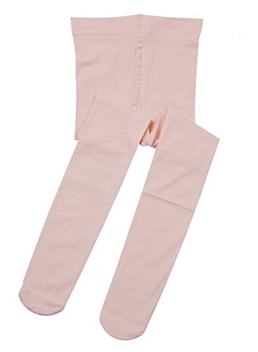 Tutu Tights Leggings - Tutu Dreams Tight for Baby Girls Ballet Pink White Ballet Tights Footed Cotton Leggings Soft Stretchy (1-pair Ballet Pink, XS (2-3T))