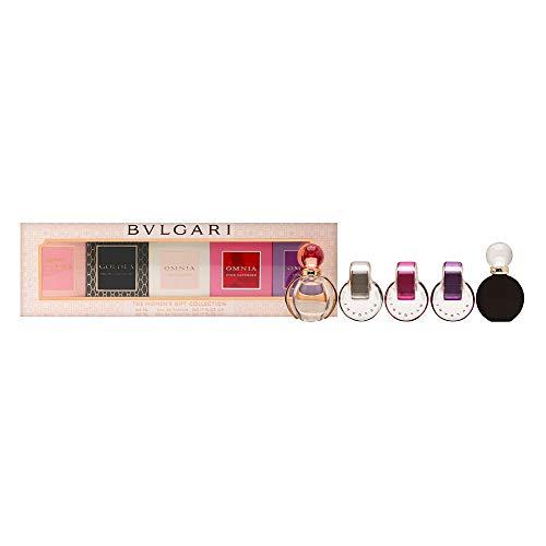 Bvlgari For Women 5 Piece Gift Collection 5 X 5 Ml Mini (Rose Goldea/Goldea/Pink Sapphire/Amethyste/Crystalline)