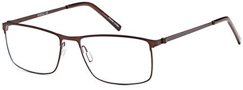 DALIX Mens Rectangular Prescription Eye Glasses Ready to Fill 55-16-140 - Prescription Fill Eyeglass