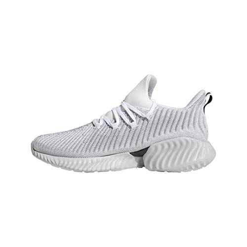 adidas Men's Alphabounce Instinct Running Shoe, white/grey two/black, 12 M US