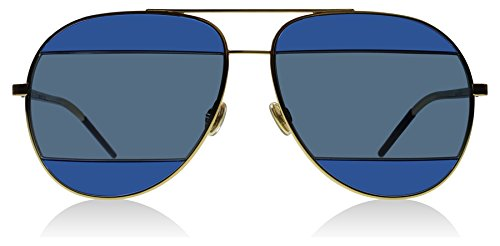 Dior 000KU Rose Gold / Blue DiorSplit2 Aviator - Mens Christian Dior Sunglasses