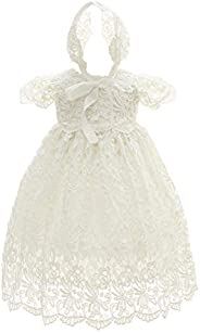 Moon Kitty Baby Girl Special Occasion Dress 2PCS Baptism Gowns Girls Hollow Long Dress