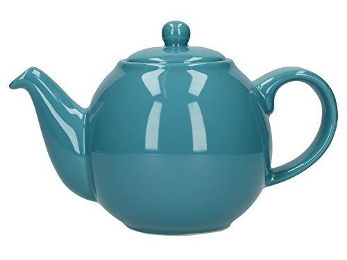 London Pottery Globe Tetera pequena con colador, ceramica, Agua, 2 Cup (500 ml)