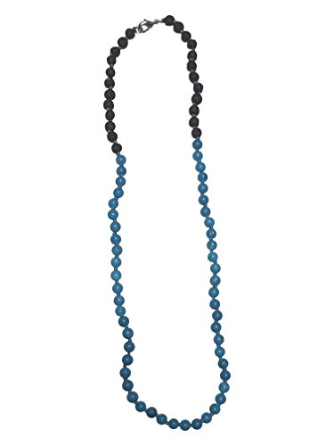 Lava and Turquoise Necklace by Kuratif - Babies and Toddlers- Aromatherapy, Teething, Natural Relief