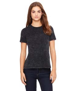 - Bella womens Missy's Relaxed Jersey Short-Sleeve T-Shirt(B6400)-BLK MINERAL WASH-2XL