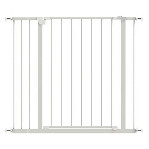 Safety Pet Baby Gate,Easy Walk Indoor Thru Gate Metal Expandable Baby Pet Safety Gate for House,Stairs,Doorways with 4″ Extension,Fits Spaces Between 30″ to 36″ Wide 30″ High (36″ Wide, Manual-Close)