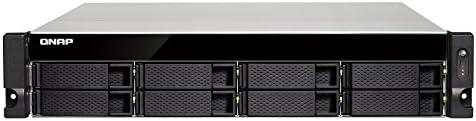 QNAP TS-832XU-RP NAS Bastidor (2U) Ethernet Negro - Unidad Raid (Unidad de Disco Duro, SSD, Serial ATA III, 2.5,3.5