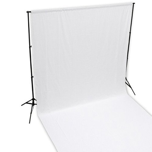 ePhoto Photo Studio Portrait 100% Cotton 10' x 10' White Muslin Backdrop Background Muslin New 1010W