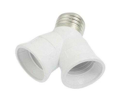 TOOGOO(R) E27 to E27 Light Lamp Bulb Socket 2 Splitter Converter