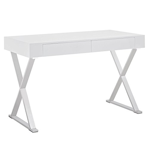 Modway Sector Office Desk in White by Modway