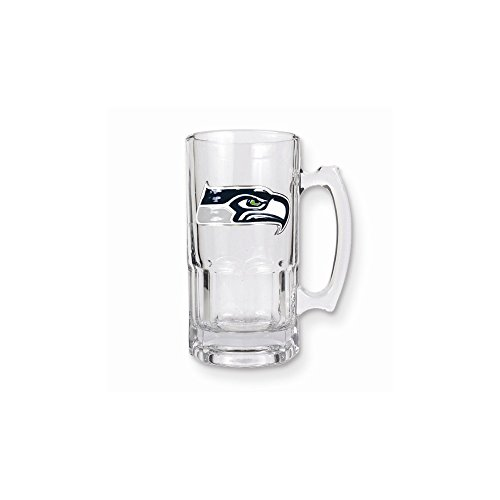 NFL Seahawks 1-liter Glass Macho Tankard