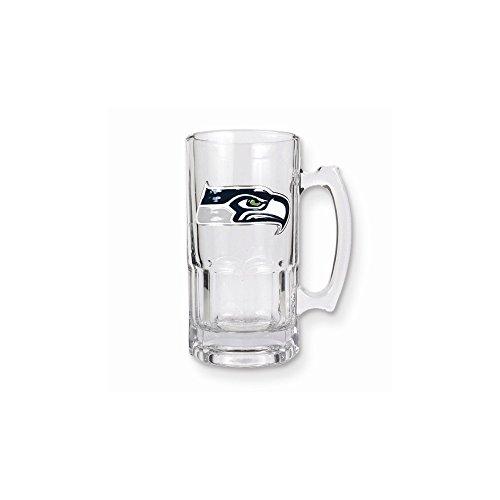 NFL Seahawks 1-liter Glass Macho Tankard