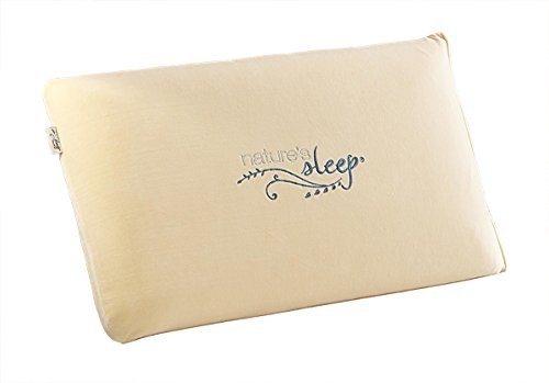Amazon.com: Natures Sleep Vitex Memory Foam Queen Pillow Cream (V4020): Home & Kitchen