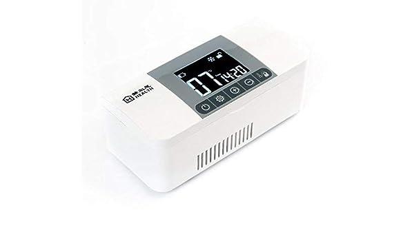 DRAGYDS Estuche de Viaje para Refrigerador de Insulina,Refrigerador con Pantalla Led de Alta Definición,Caja de Enfriamiento Médico,Organizador de Medicamentos para el Hogar de Viaje Ahorro de e: Amazon.es: Bricolaje y herramientas