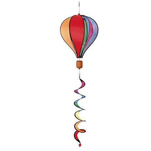 Windspiration Hot Air Balloon Twist Garden Wind Spinner, Rainbow