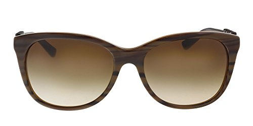 DKNY Women's 0DY4126 Square Sunglasses, Brown Rule/Brown Transparent, 57 mm