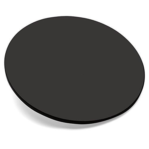 Cuisinart CPS-113 Alfrescamore Ceramic Glazed Cordierite Pizza Stone, Black 3/8 Inch Thick Stone