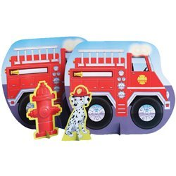 Factory Card and Party Outlet Firefighter 13 1/2in Centerpiece 3ct ()