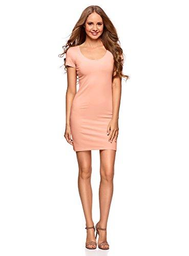 oodji Ultra Mujer Vestido de Punto (Pack de 2) Rosa (5400N)