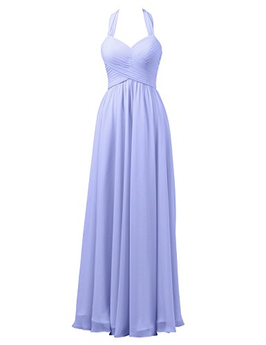 Dress Wedding Long Lavender Alicepub Maxi Halter Prom Formal Bridesmaid Evening for Gown qEwSRW67