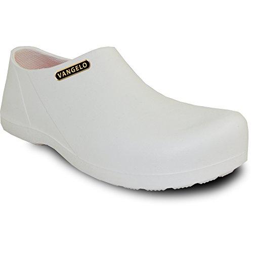 VANGELO Professional Slip Resistant Clog Unisex Work Shoe Carlisle White by VANGELO